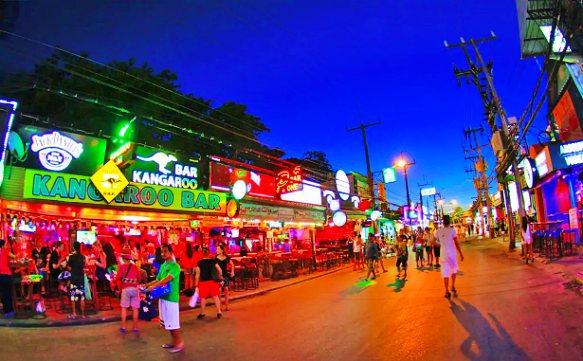 Thailand Phuket, Patong Strand und Bangla Weg