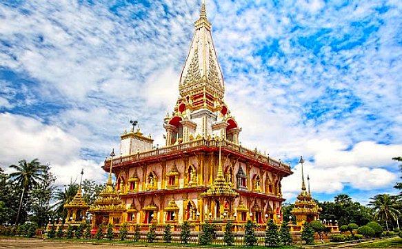 Thailand Phuket, Wat Chalong Tempel